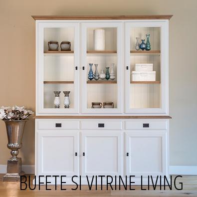 Vitrine Living lemn masiv